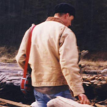 barton cole with his canteen on Whidbey Island, circa 1998