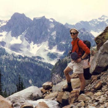 barton cole with his canteen in the Olympic Mountains, WA, circa 1983