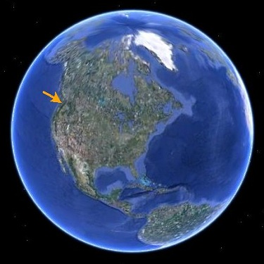 global view; arrow points at NW usa